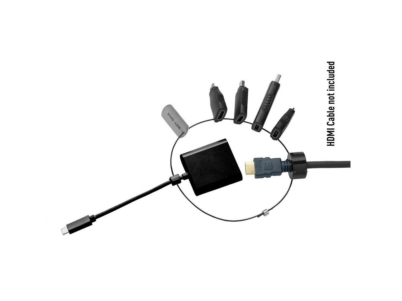 Standard adaptergyűrű 5-HDMI_USB-C, mini HDMI, micro HDMI, DP, mini DP