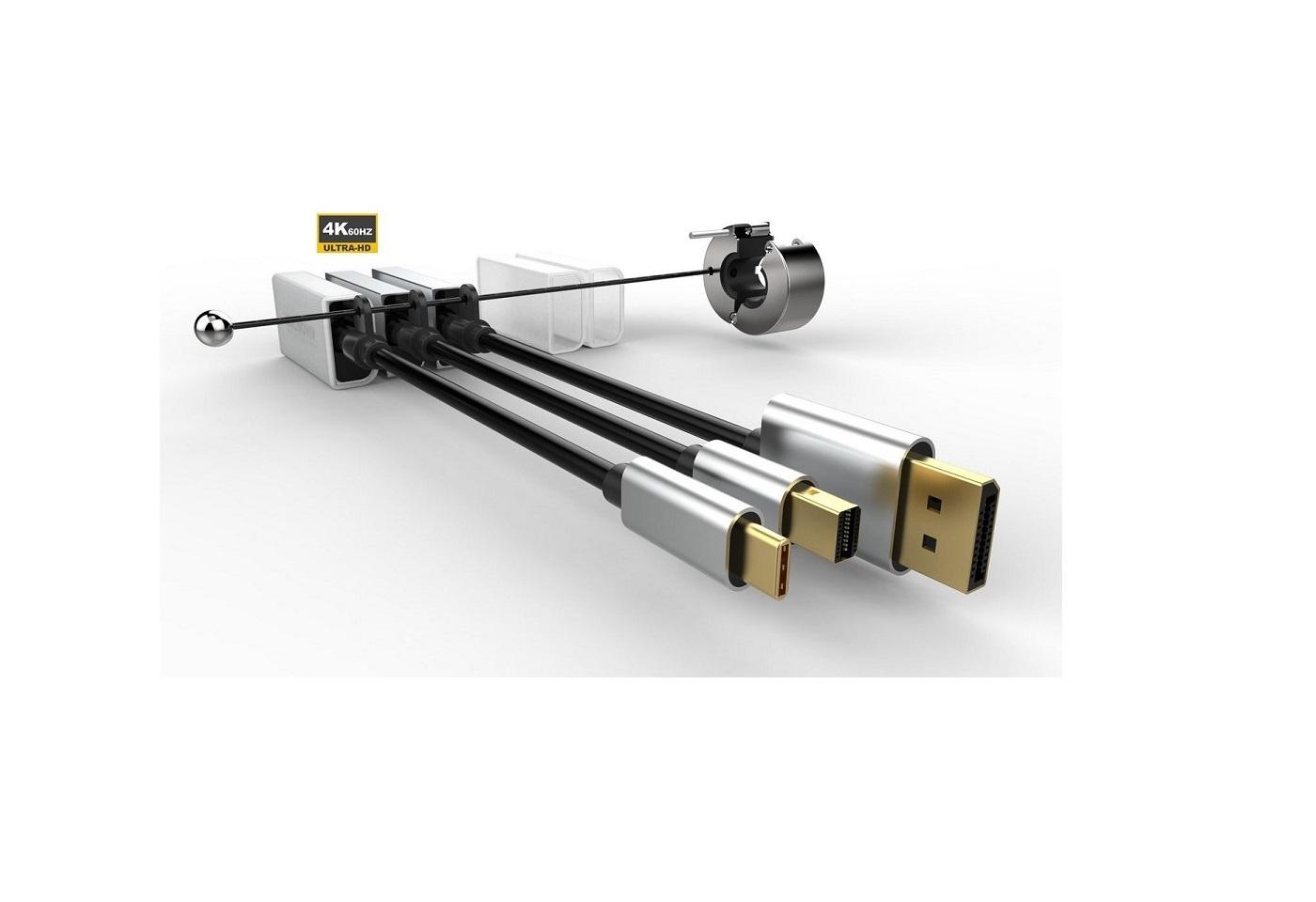 Prémium adaptergyűrű 3-HDMI konverter: USB-C, DP,mini DP