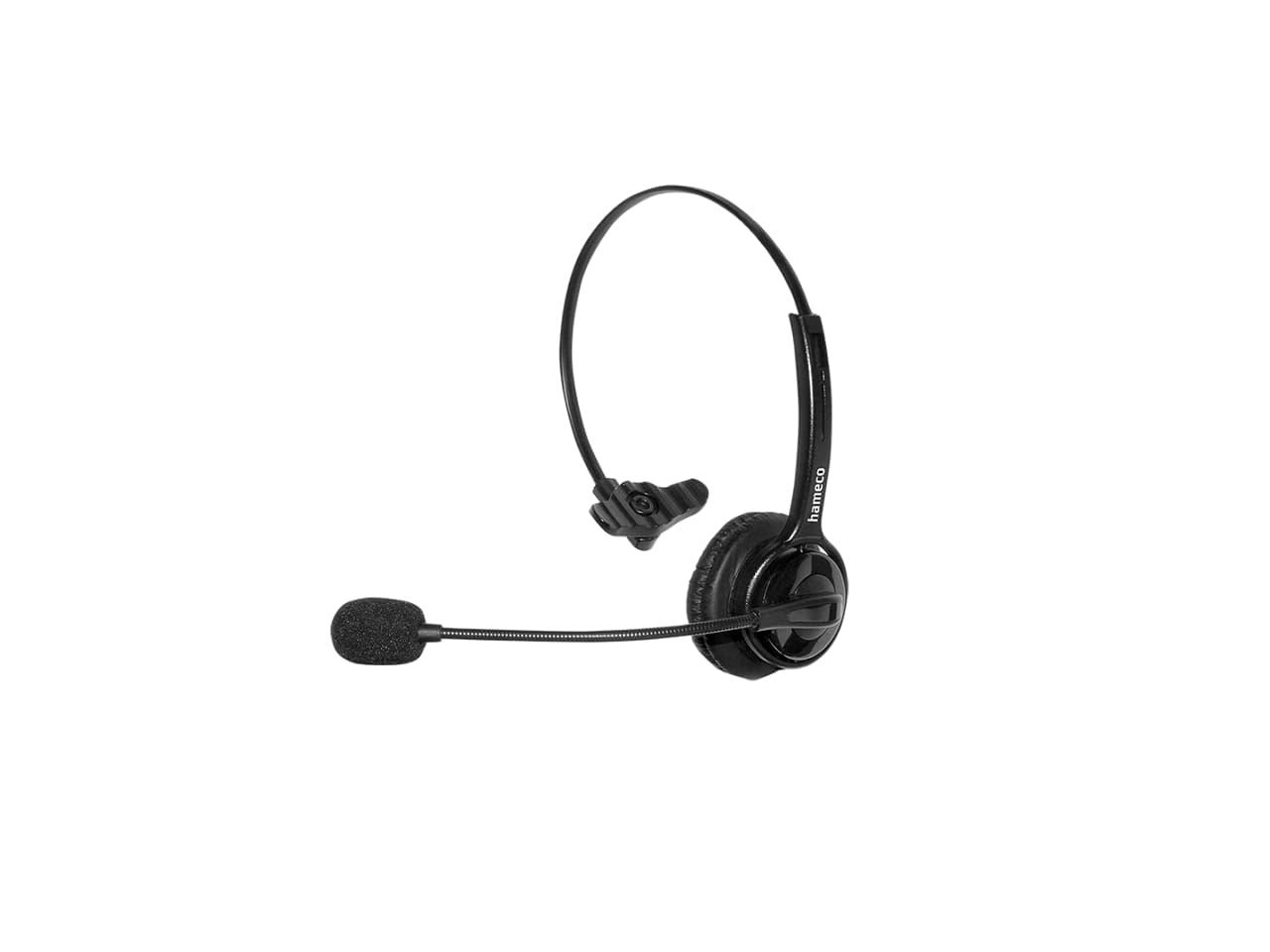 Hameco call center headset, fejhallgató, vezetékes fejhallgató mikrofonnal. call center headset ecosonic HS-1077M-QD