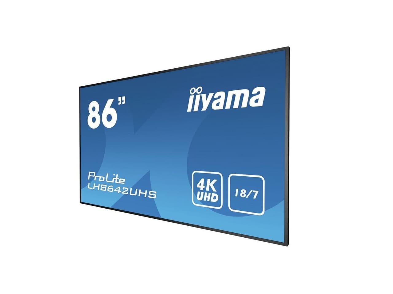 """18/7 digital signage kijelző, 86"""" megjelenítő"""